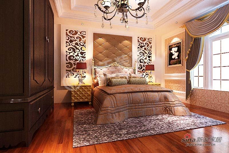 欧式 三居 卧室图片来自阳光力天装饰在金城嘉园-三室一厅两卫一厨-欧式风格64的分享