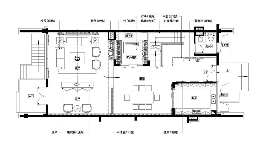 中式 别墅 户型图图片来自wulijuan_16在滨海御庭T1型别墅28的分享
