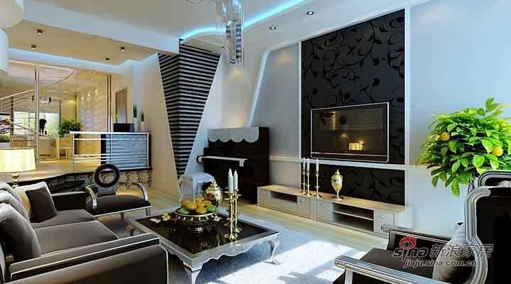 简约 复式 客厅图片来自用户2737786973在8.4万打造江北康桥郡简约复式61的分享