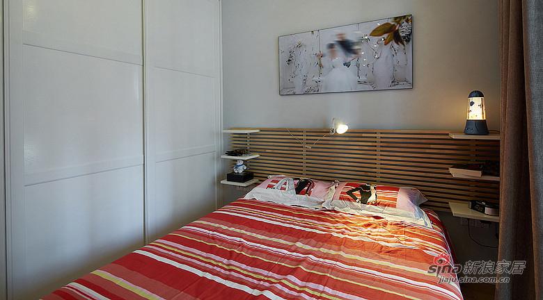 混搭 二居 卧室图片来自装修微日记在【高清】92平暖暖宜家简约风格空间57的分享