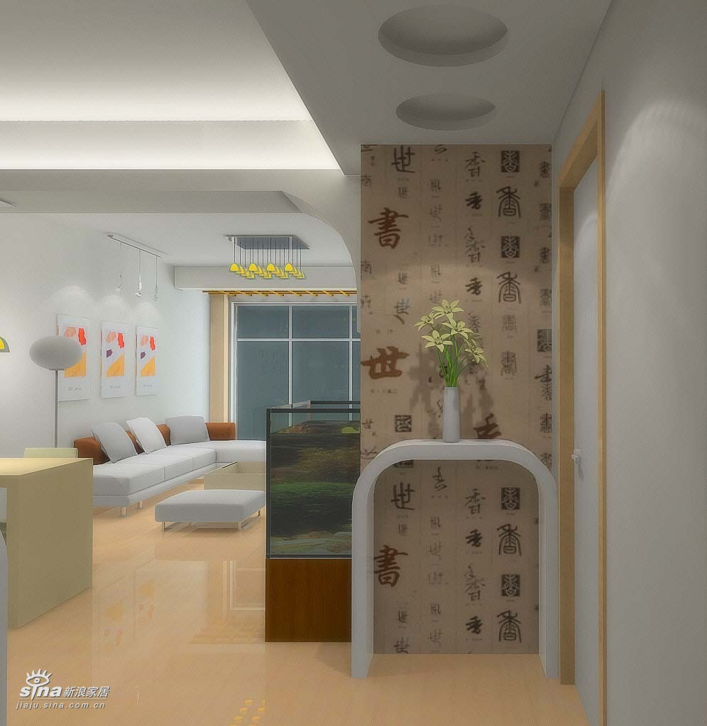 欧式 三居 玄关图片来自用户2772873991在轻舟总设计部13的分享