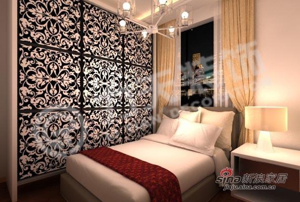 混搭 三居 卧室图片来自阳光力天装饰在90平三室绝对混搭74的分享