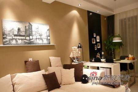 简约 二居 客厅图片来自用户2738820801在7万精巧设计100平跃层2居13的分享