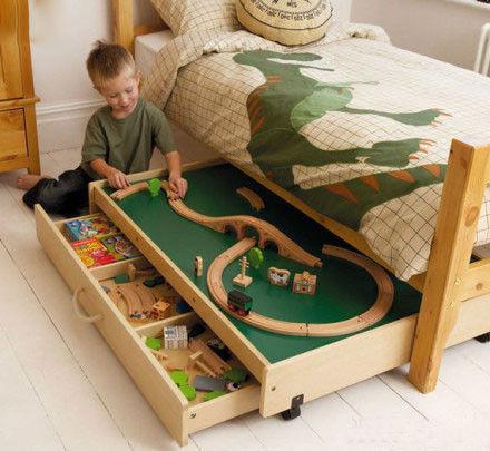 儿童床,床下有机关~