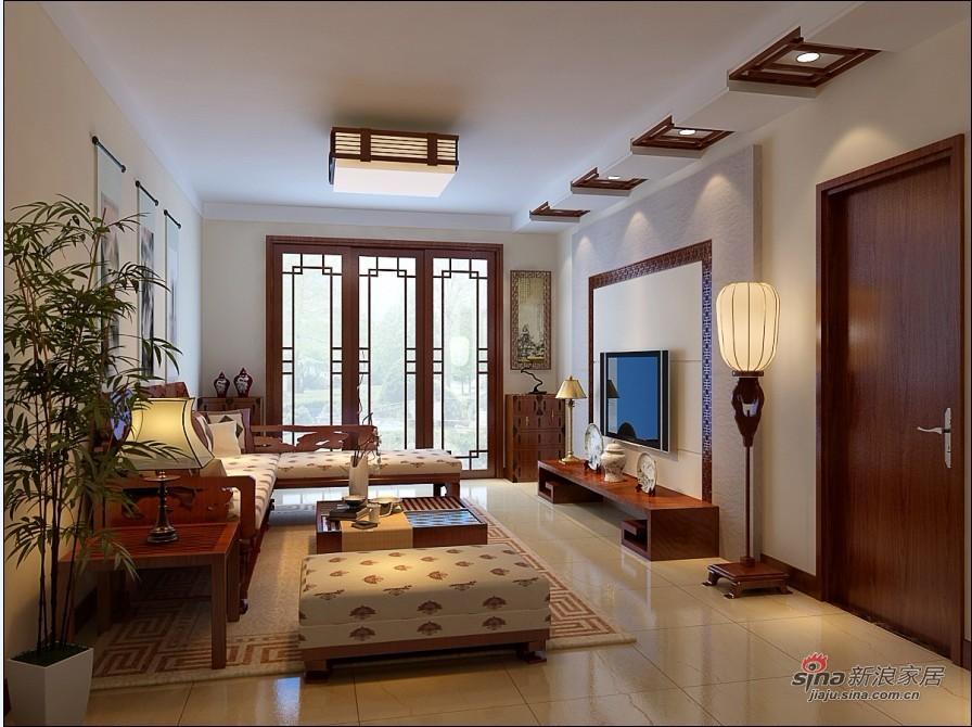 中式 四居 客厅图片来自用户1907658205在10万装156平简约中式爱家62的分享