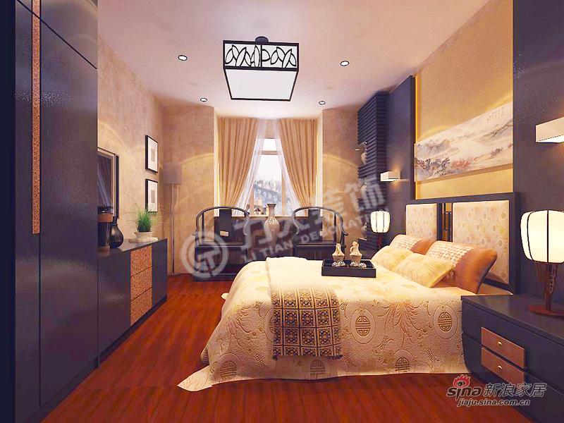中式 二居 卧室图片来自阳光力天装饰在天地源欧築1898-2室2厅1卫1厨 -中式风格21的分享