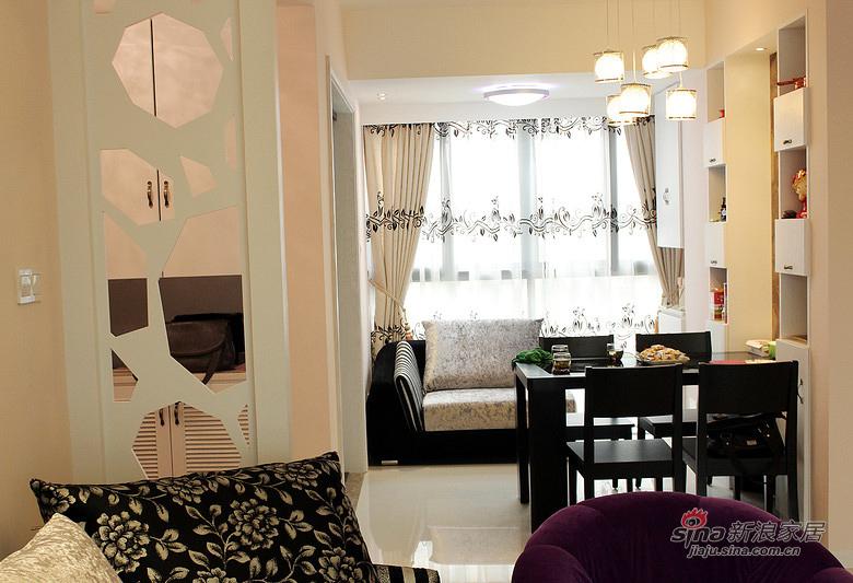 简约 三居 餐厅图片来自佰辰生活装饰在【高清】12万打造94平简约温馨淡雅之家63的分享