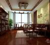 二层新中式风格休闲区
