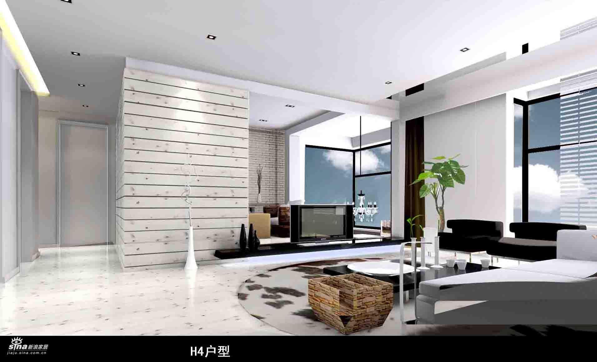 其他 二居 客厅图片来自用户2558746857在实创装饰都市风情60的分享