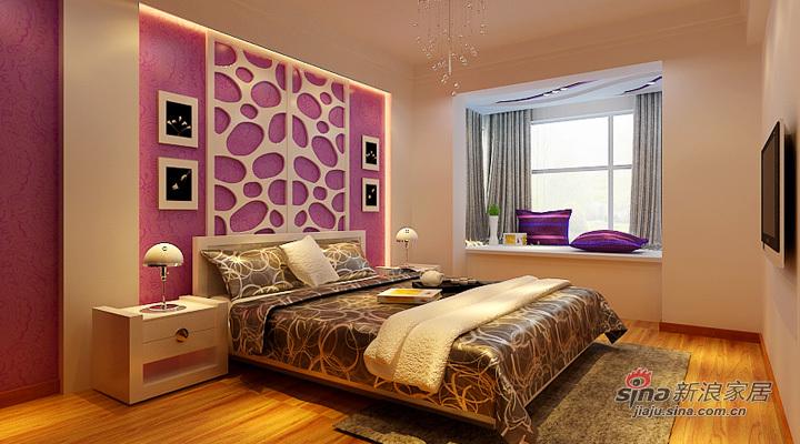 简约 二居 卧室图片来自用户2738829145在温馨浪漫的简约两居室【奥林小镇】49的分享