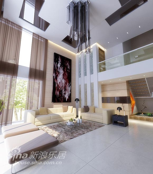 简约 别墅 客厅图片来自用户2738829145在瑞典极简设计之达观别墅33的分享