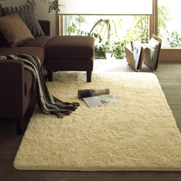 日式简约风格 水洗丝毛地毯