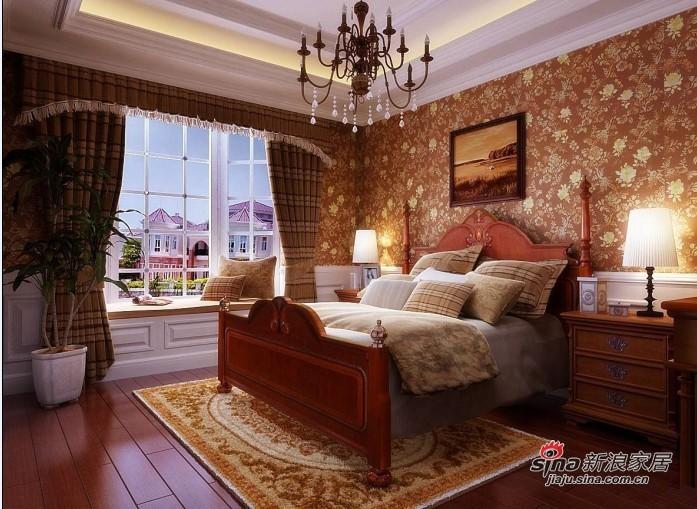 欧式 三居 卧室图片来自用户2745758987在7.2万铸造欧式奢华三居室42的分享