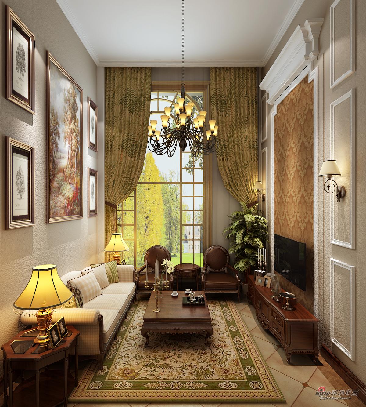 美式 三居 客厅图片来自用户1907686233在北京华贸城29的分享
