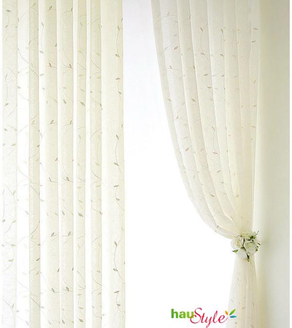 韩国象牙色窗纱窗帘,简单唯美,浪漫婚房必不可少的装饰之一!