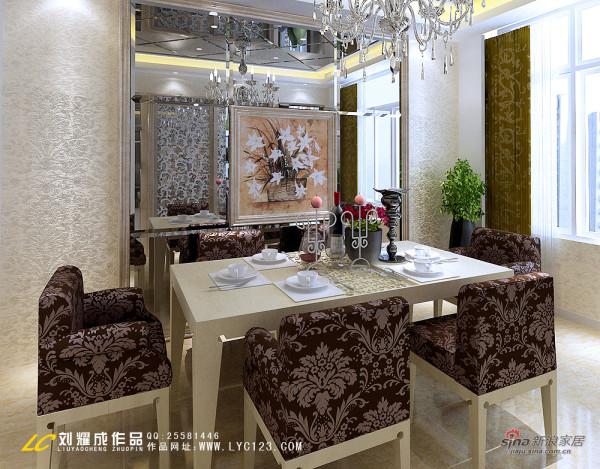 欧式 四居 餐厅图片来自用户2746889121在【高清】15万装 大气奢华简欧风三房两厅28的分享