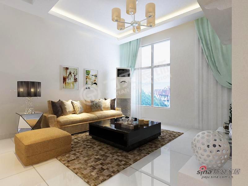 简约 二居 客厅图片来自阳光力天装饰在天房郦景-两室两厅一厨一卫-现代简约风格51的分享