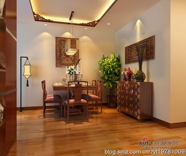 中式 三居 餐厅图片来自用户1907658205在115平3居室新中式舒适爱家35的分享