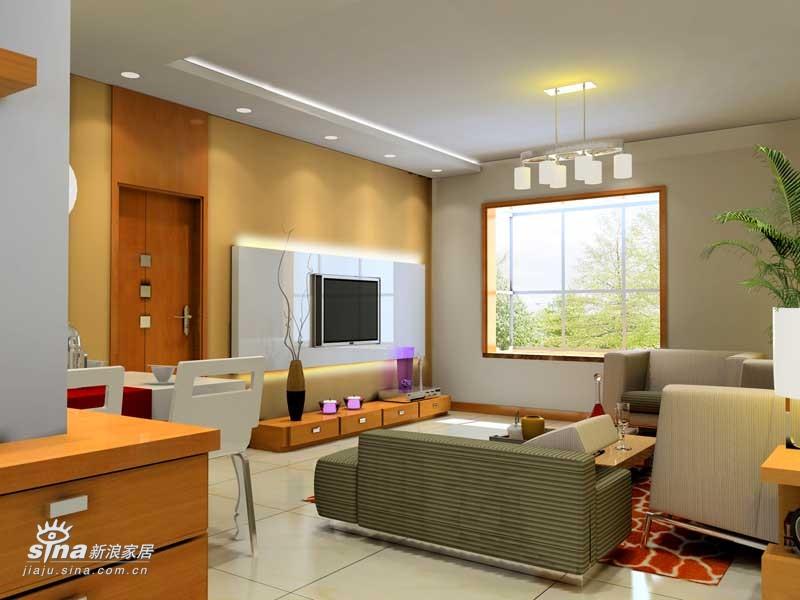 简约 一居 客厅图片来自用户2737759857在两套效果图24的分享
