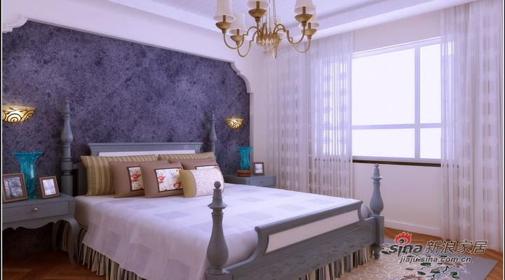 地中海 三居 卧室图片来自用户2756243717在128平地中海自由感风格家【恒盛豪庭】31的分享