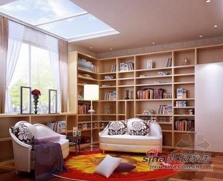 欧式 别墅 书房图片来自用户2557013183在简欧风格龙湾别墅设计32的分享