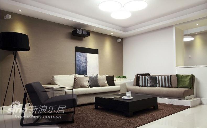 简约 四居 客厅图片来自用户2745807237在45万造140平现代简约家27的分享