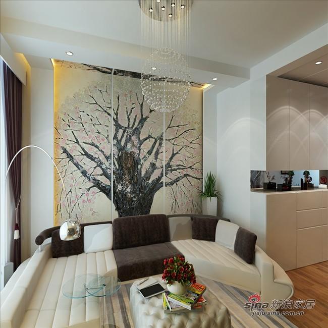 简约 三居 客厅图片来自用户2738820801在素净白色系时尚家85的分享
