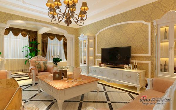欧式客厅电视背景墙设计