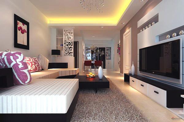 长江紫都116平三居室简约装修设计