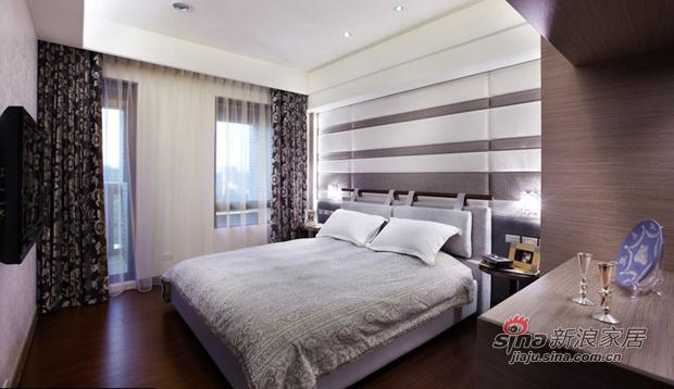 简约 三居 卧室图片来自佰辰生活装饰在新婚主妇108平简约沉稳3居室74的分享