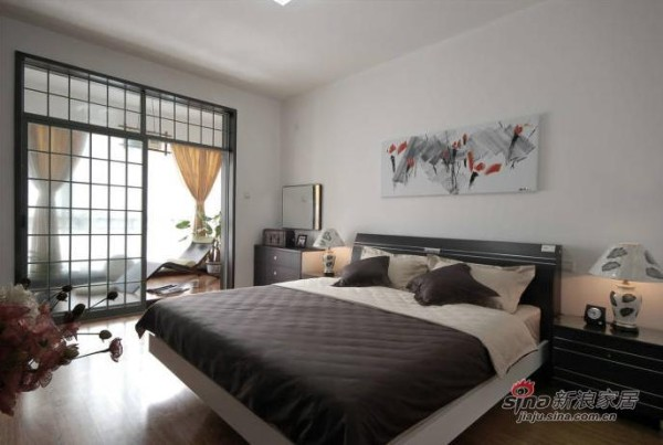 中式 三居 卧室图片来自用户1907662981在9万装128平新中式风格婚房55的分享