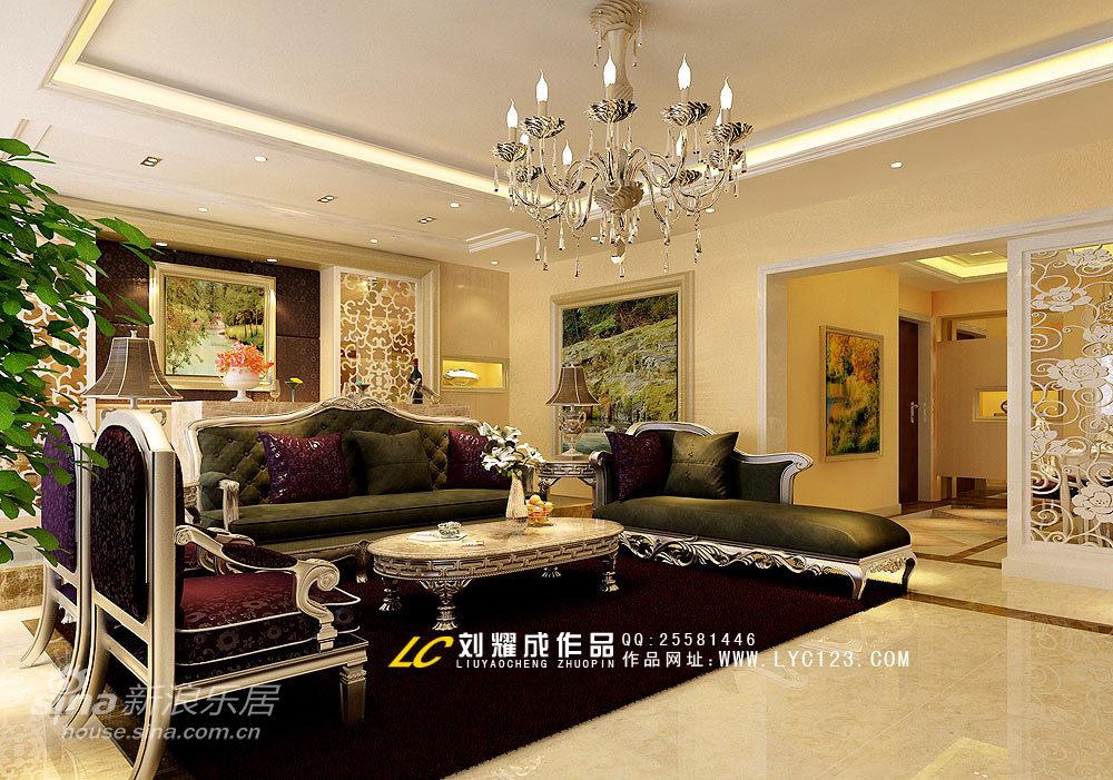 欧式 四居 客厅图片来自用户2772856065在后现代设计-演绎低调奢华18的分享