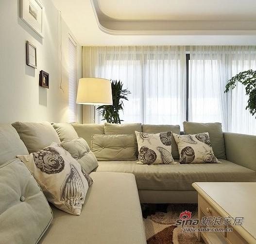 美式 四居 客厅图片来自用户1907686233在硬装12W装美式简约150平豪宅33的分享