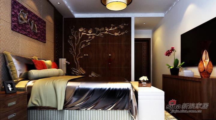 中式 三居 卧室图片来自用户1907662981在全包120平中海城别样新中式风格三居34的分享