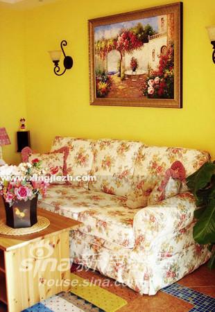 田园风 红色沙发