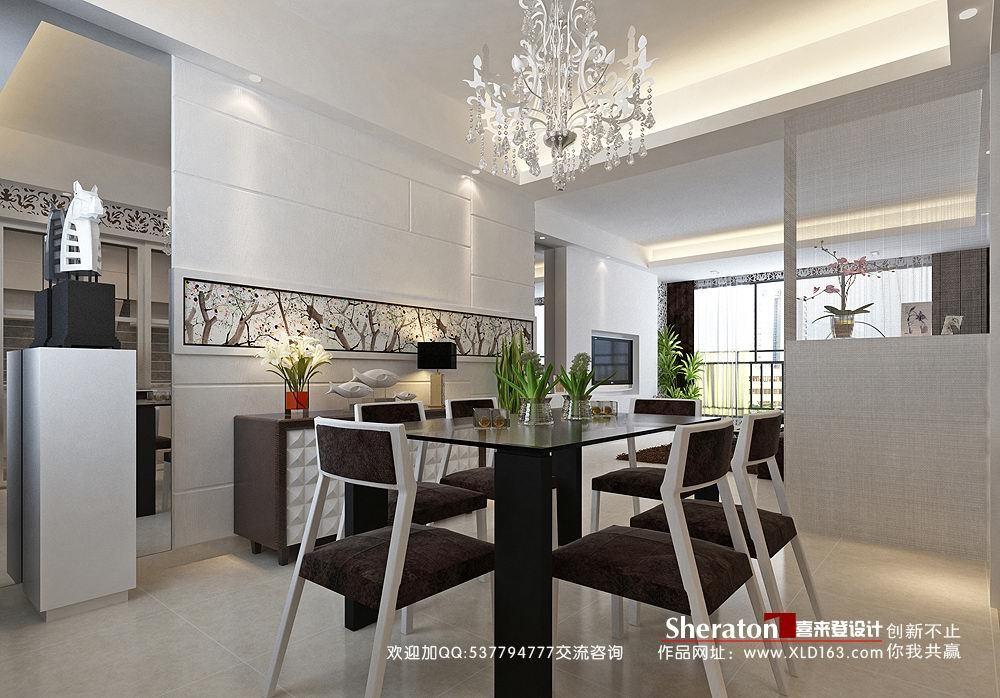 简约 三居 餐厅图片来自用户2739081033在【高清】玩转简约潮流4室2厅设计34的分享