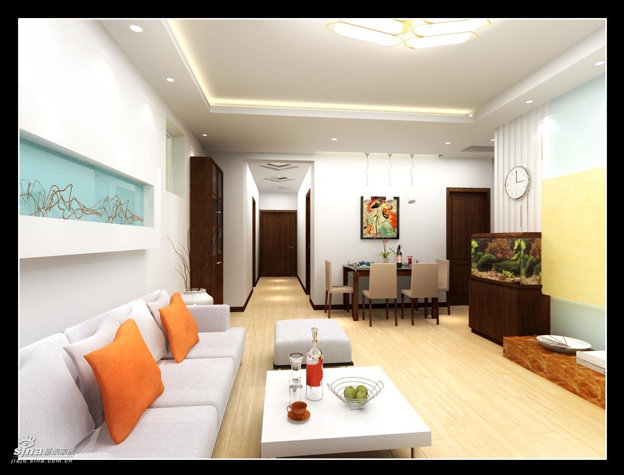 简约 二居 客厅图片来自用户2738093703在实创装饰上京新航线户型设计案例98的分享