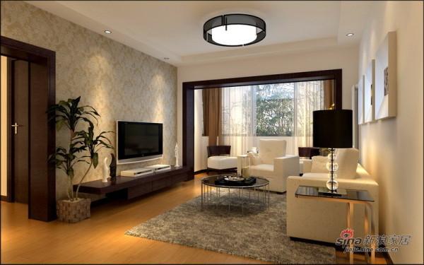 简约 二居 客厅图片来自用户2739153147在女婿5万装87㎡简约时尚2居53的分享