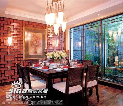 中式 别墅 餐厅图片来自wulijuan_16在浙江水木清华别墅示范单位18的分享