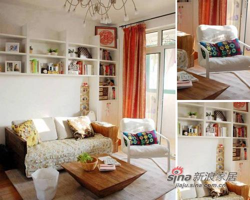 田园 二居 客厅图片来自用户2737791853在小资女10万装60平田园新家19的分享