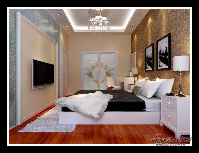 简约 二居 卧室图片来自用户2559456651在少即是多 5.9万营造莱茵都市现代感时尚之家61的分享