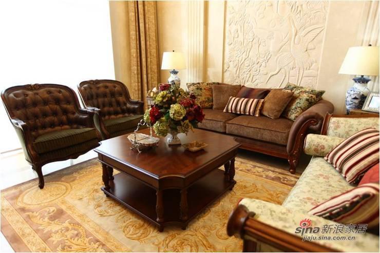 欧式 跃层 客厅图片来自用户2746889121在400平纯美式风格跃层69的分享