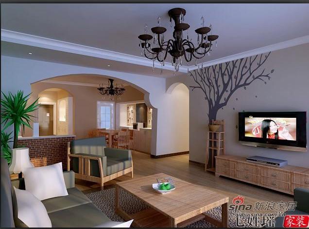 田园 二居 客厅图片来自用户2737946093在8.5万省钱装修105平二居25的分享