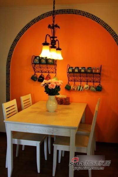 田园 二居 餐厅图片来自用户2737946093在巧手MM改装90平温馨田园小窝93的分享