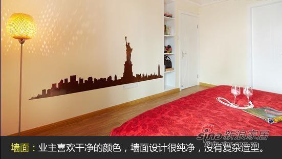 简单卧室背景墙