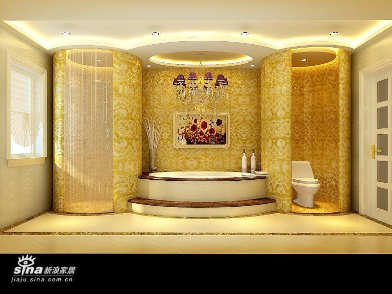 欧式 别墅 卫生间图片来自用户2746869241在欧式实景别墅68的分享