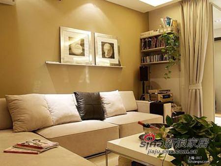 简约 二居 客厅图片来自用户2738093703在月薪族5万多功能空间86平质感家58的分享