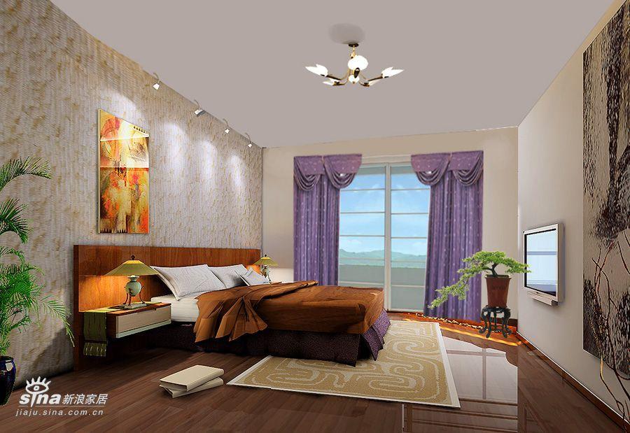 简约 三居 卧室图片来自用户2745807237在简洁明快回龙观48的分享