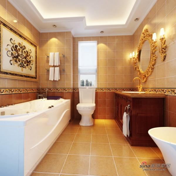 金色调卫生间设计