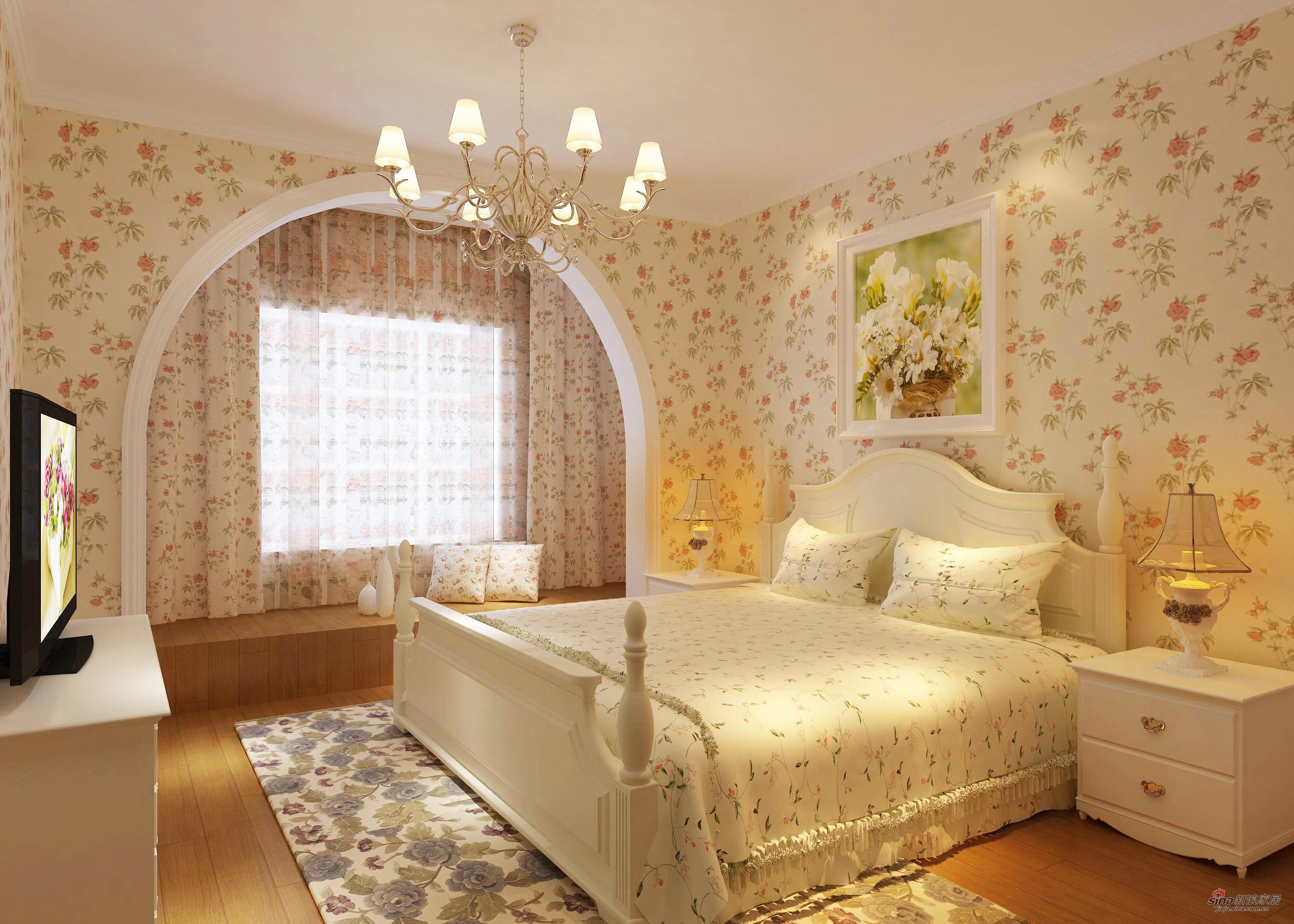田园 一居 卧室图片来自用户2557006183在小一居的田园风格欣赏61的分享